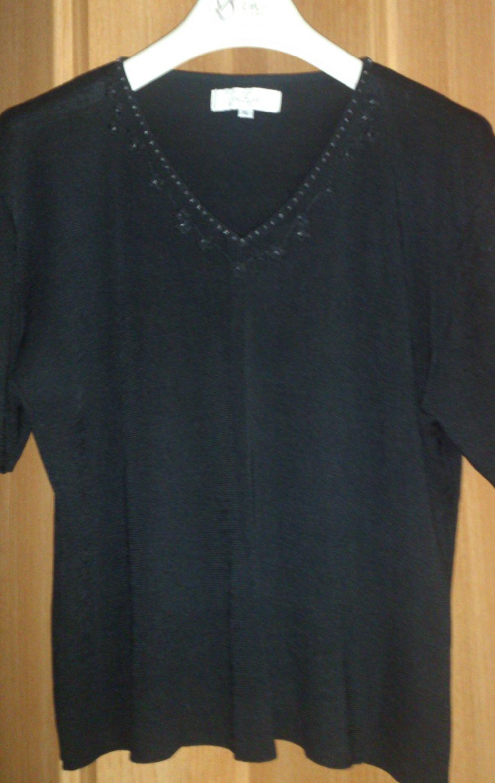 Кофта = футболка SILK & CASHMERE,  размер ХL = 50-52-54 (рос) на рост до 164