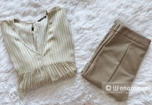 Блуза Massimo Dutti, брюки Mango 42-44