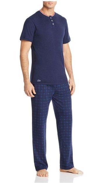 LACOSTE мужской домашний костюм футболка+штаны р.L
