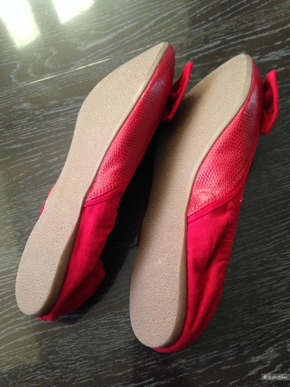 Кожаные балетки River Island размер 37,5 - 38 размер