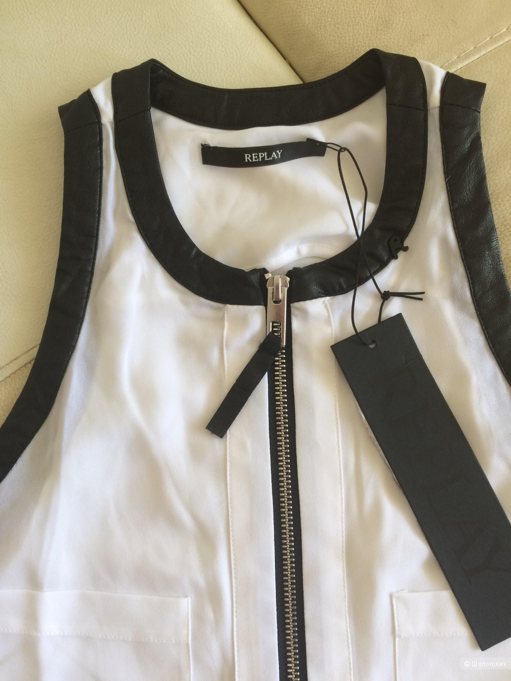 Белая блузка replay xs