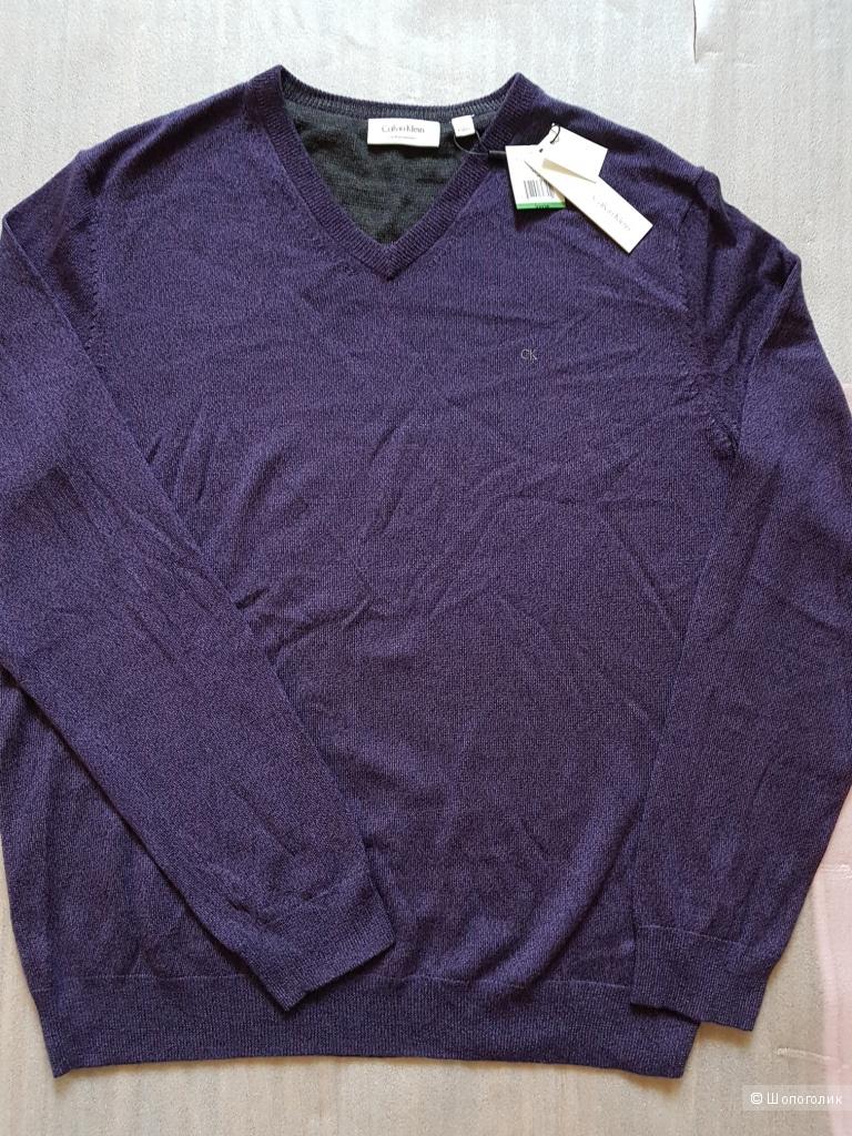 CALVIN KLEIN мужской пуловер из мериносовой шерсти р.L