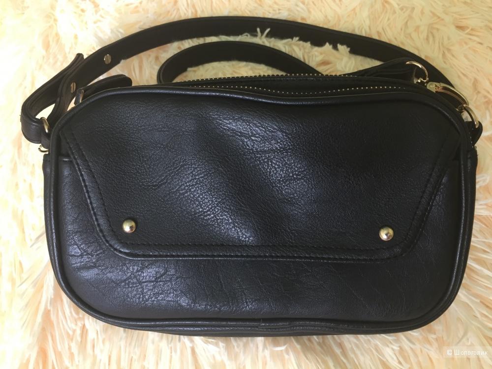 Кожаная сумка, ноу нейм