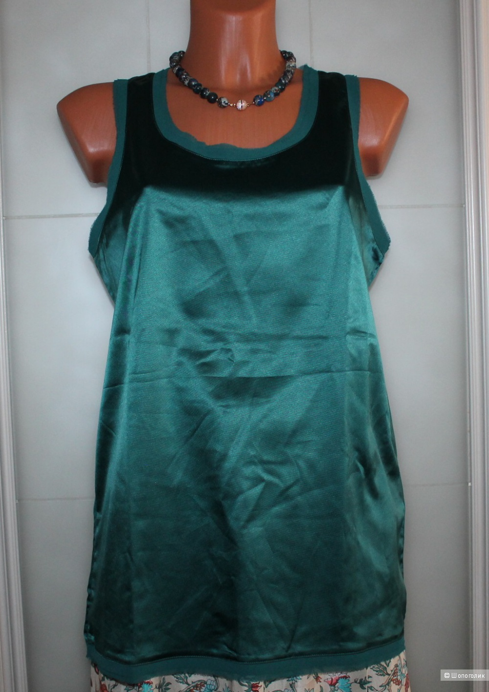 Шелковая юбка Talking French, размер 46,48,50