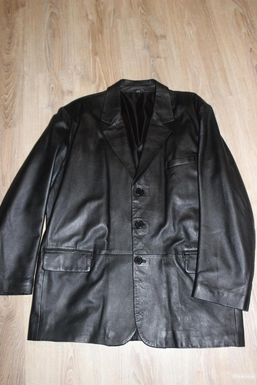 Мужской кож.пиджак g.a. collection, размер 52-54+-