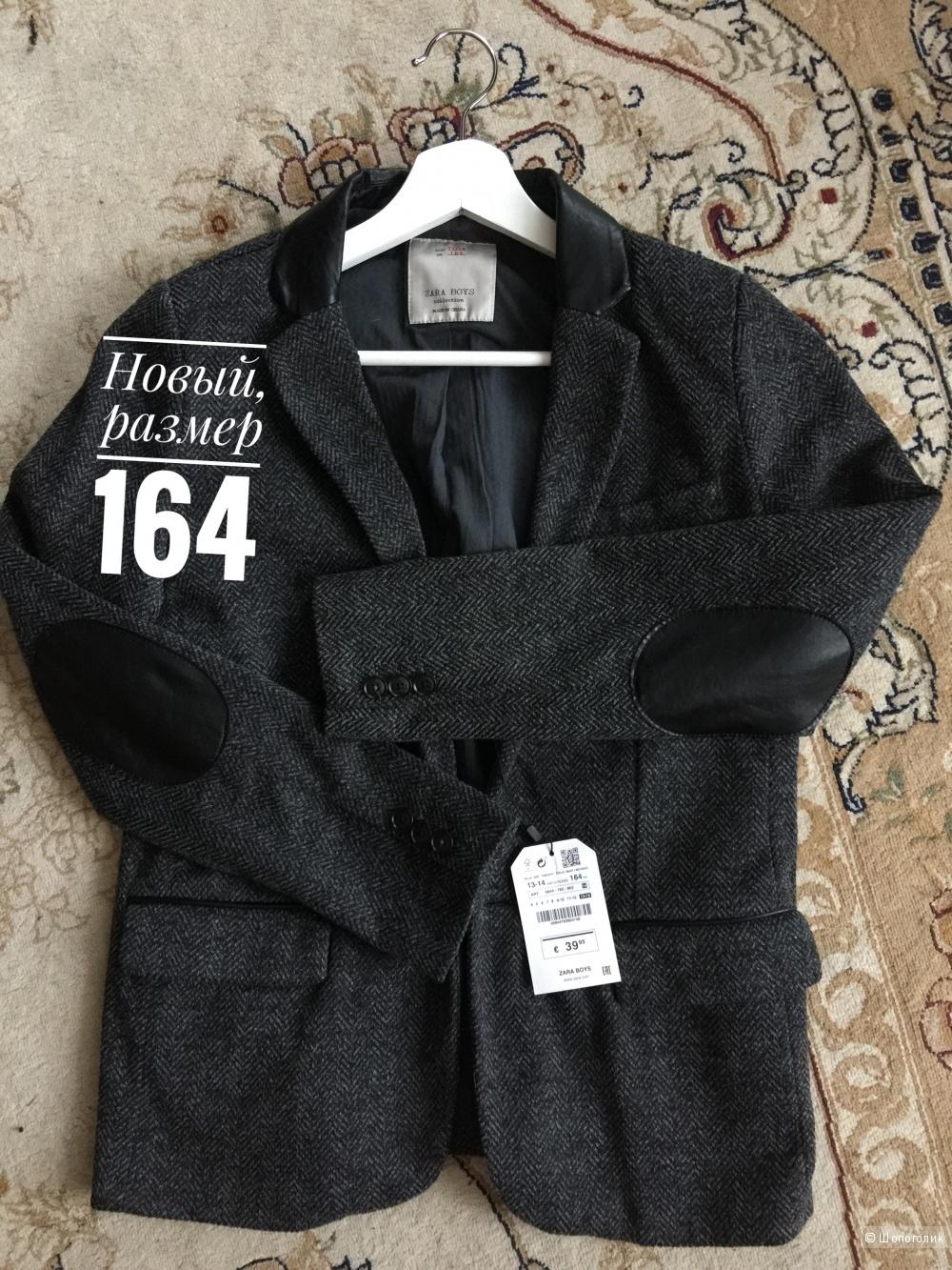 Пиджак с заплатками Zara, размер 164