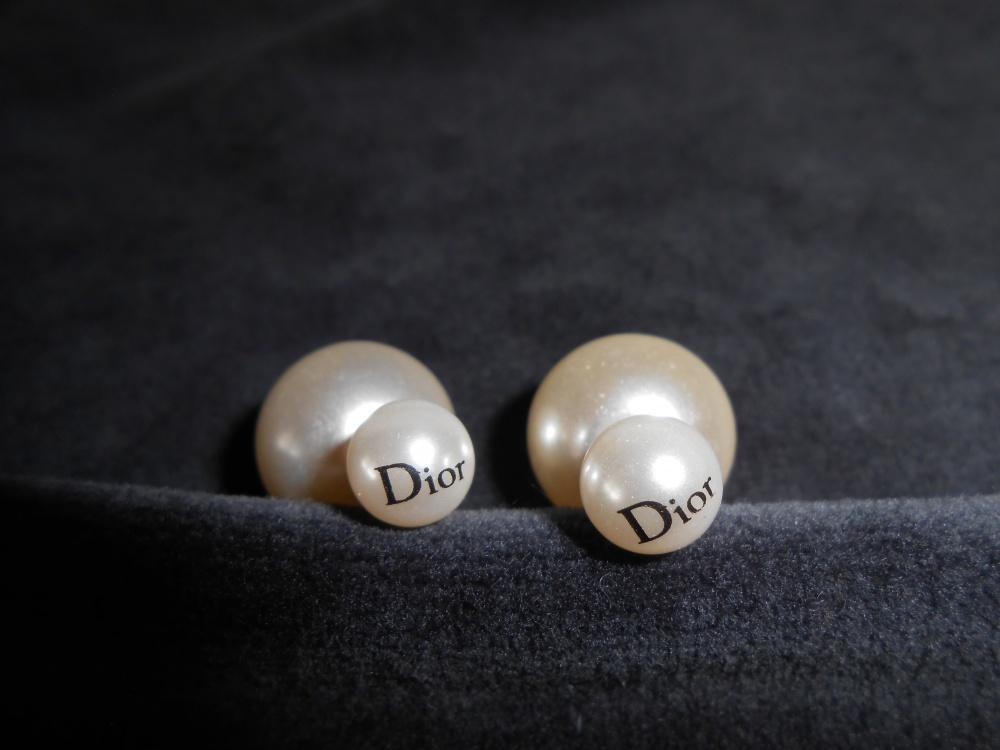 Серьги пуссеты Dior , one size.