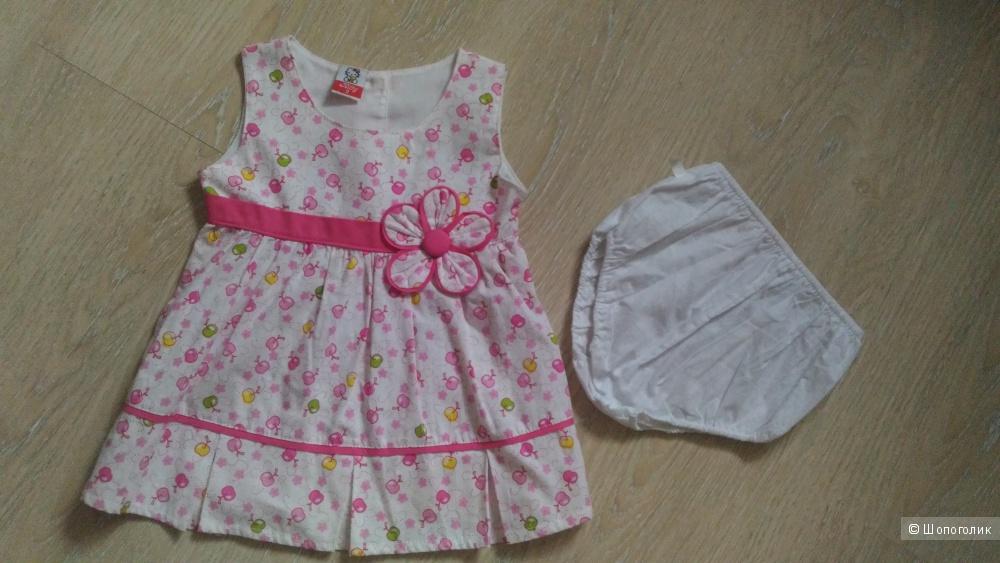 Платье, ростовка 74-80 см.