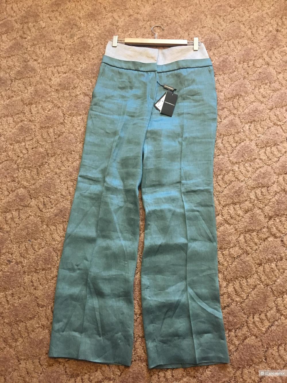 Льняные брюки  Emporio Armani, размер 46рус, 42it