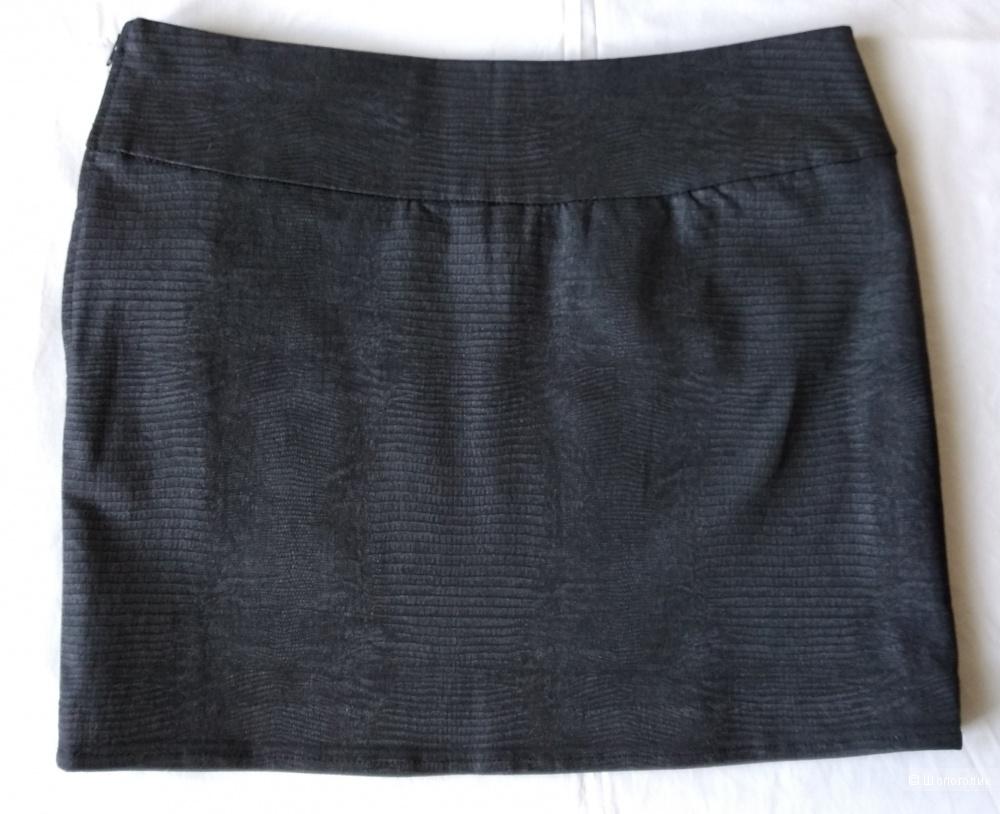 Джинсовая змеиная юбка, р.46-48, Такко
