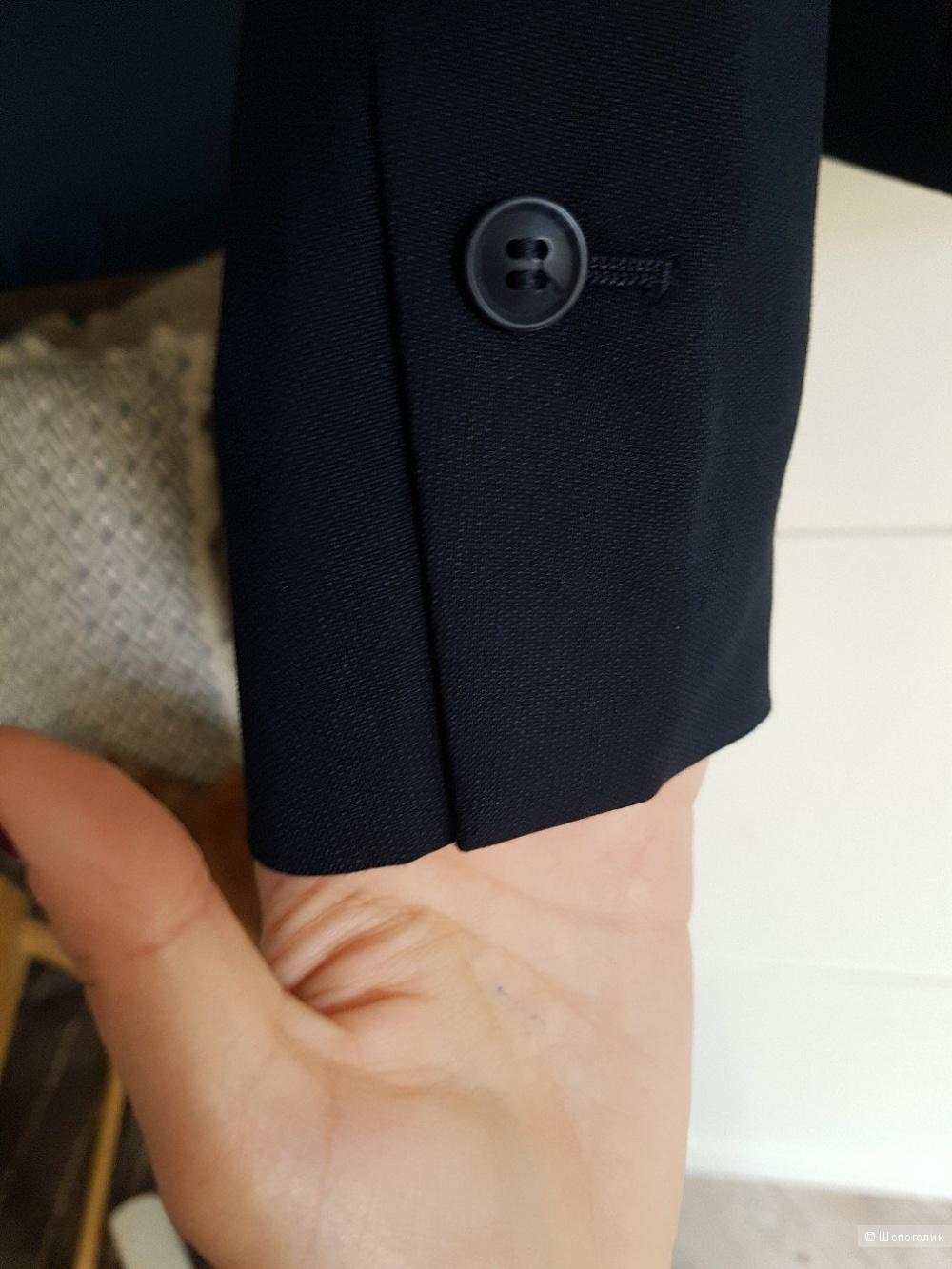 Приталенный жакет H&M темно-синий, размер 36