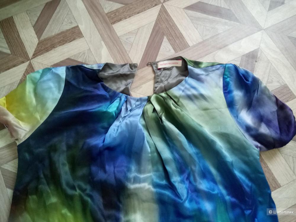 Платье шёлковое MATTHEW WILLIAMSON,44-46 размер.