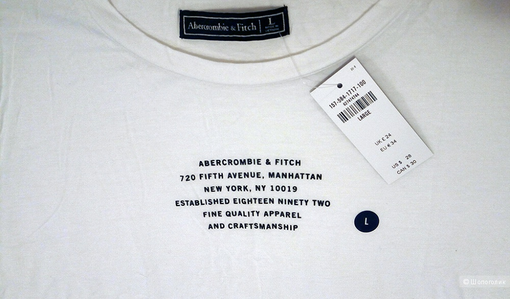 Футболка Abercrombie and Fitch, размер 46-48 (L)