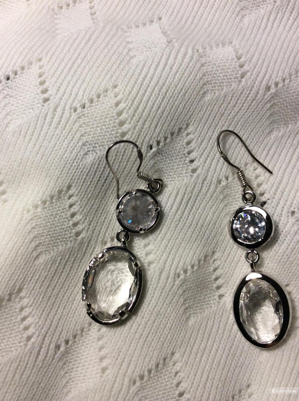 Серьги A&C с кристаллами