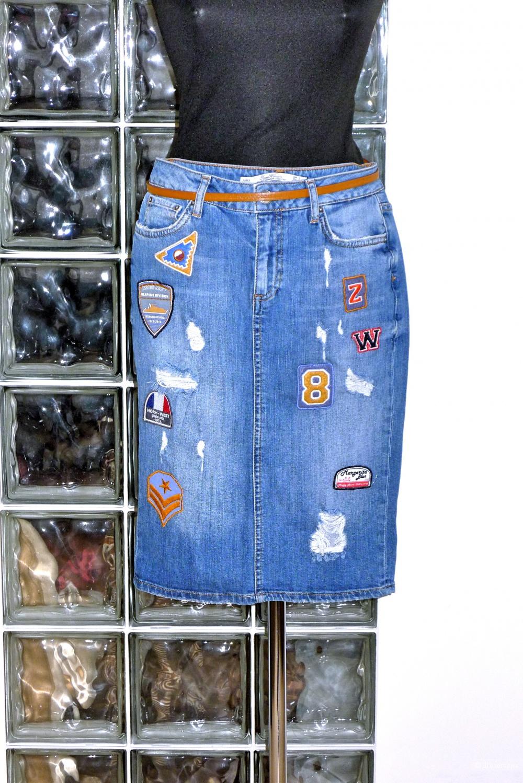 ZARA джинсовая юбка размер S