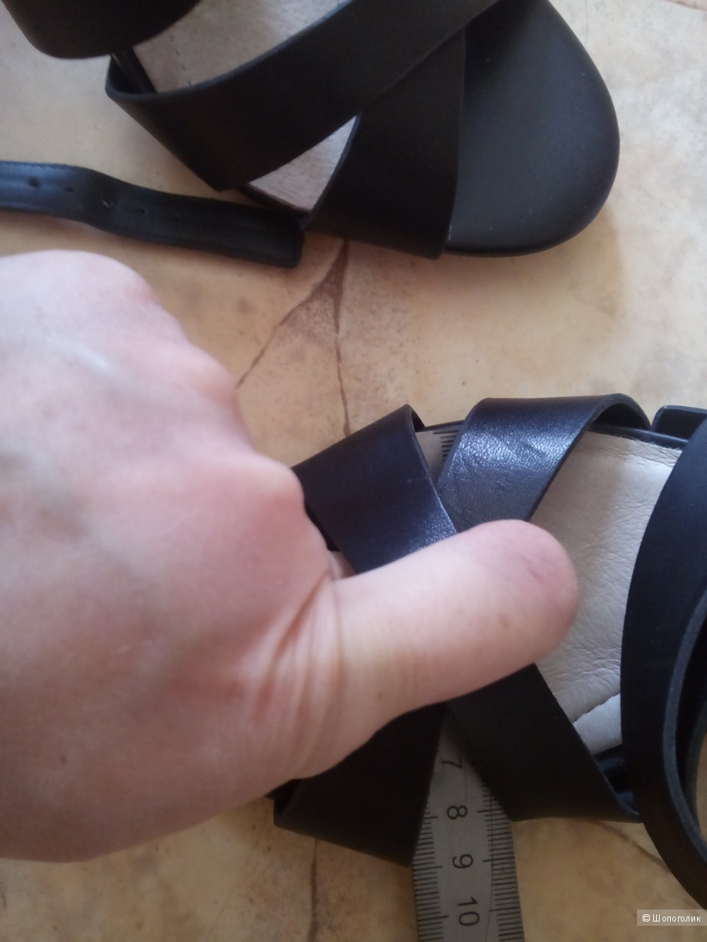 Босоножки кожаные,  размер 39 евро (8,5сша)