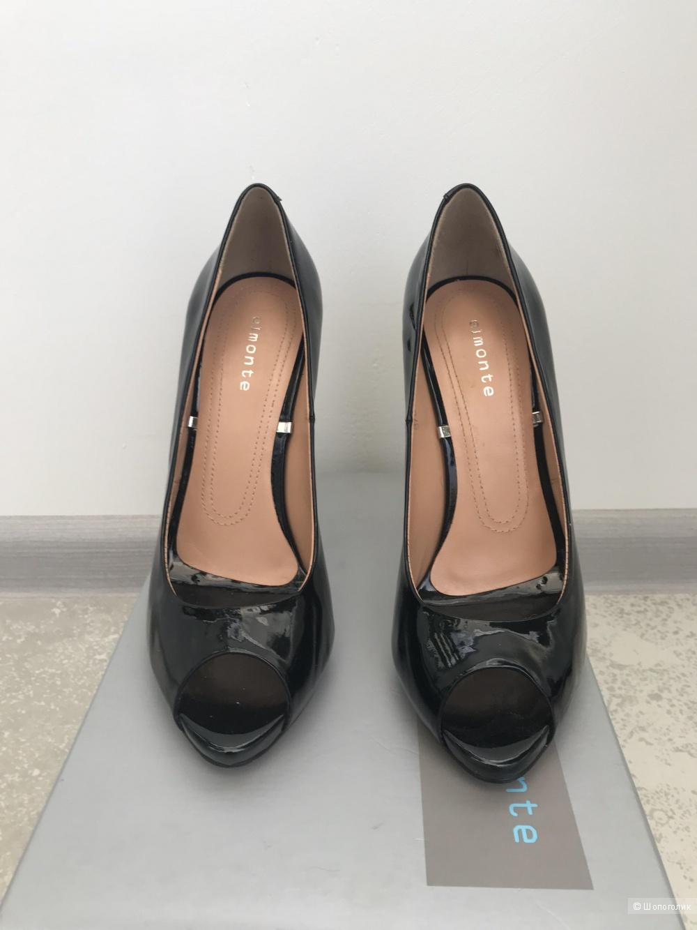 Туфли с открытым носом, 37 размер,  фирма Elmonte
