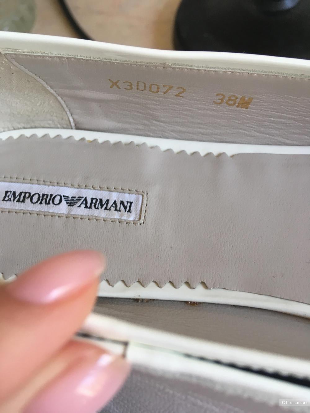 Кожаные балетки Emporio Armani 38M