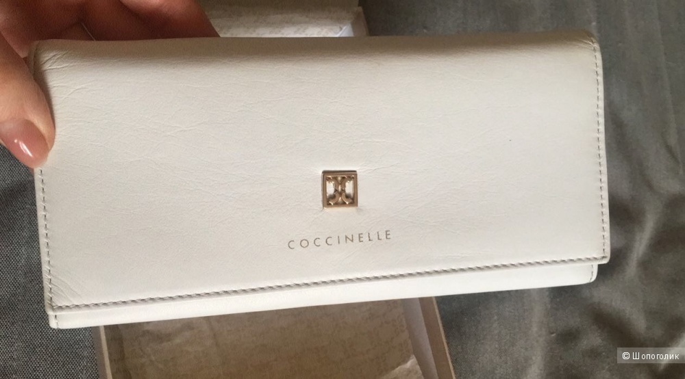 Белоснежный кошелек Coccinelle one size