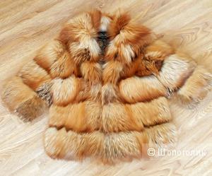 Шубка из огненной лисицы Elsa Fur, Италия, размер 42