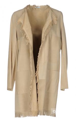 Лёгкое пальто из замши P.A.R.O.S.H. размер М