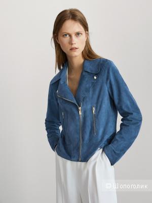 Замшевая куртка косуха Massimo Dutti размер М