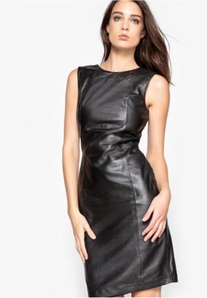 Кожаное платье La Redoute, размер 36 (42-44)