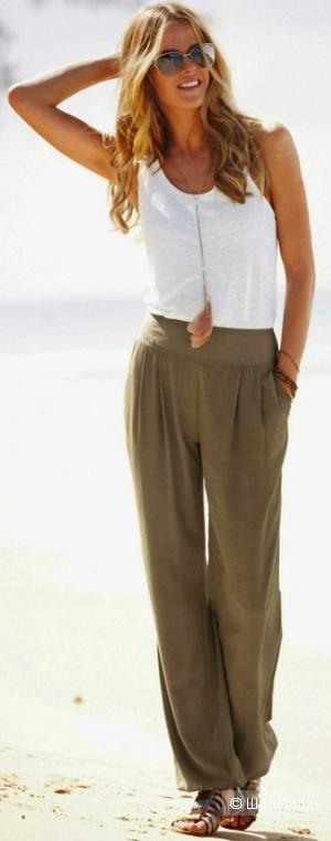 Льняные брюки H&M, размер евр. 38