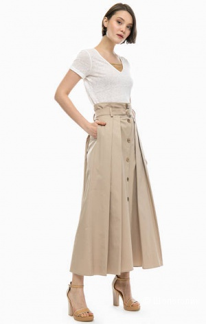 Льняная юбка CARLA FASINI, размер нем. 42
