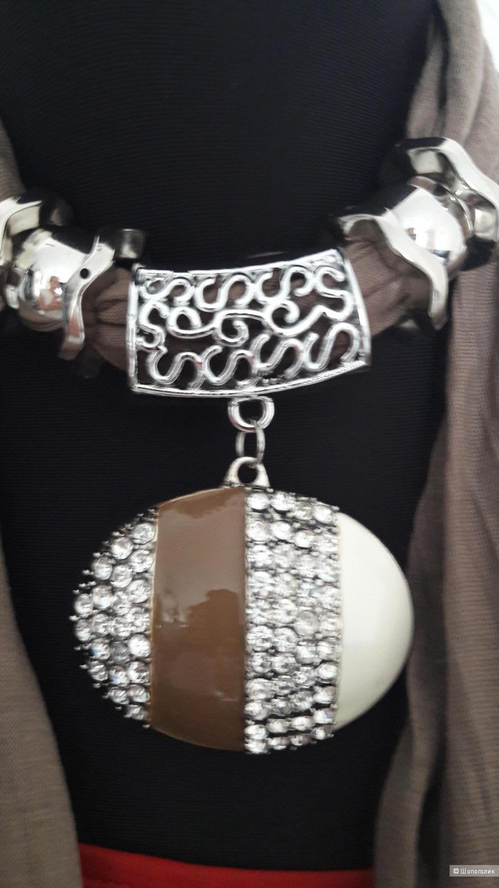 Аксессуар-трансформер: колье-пояс-украшение для сумки, ноу нейм.
