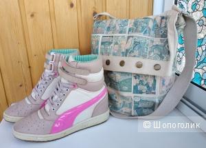 Комплект: кроссовки-сникерсы Puma Contact (р.39-40) и сумка