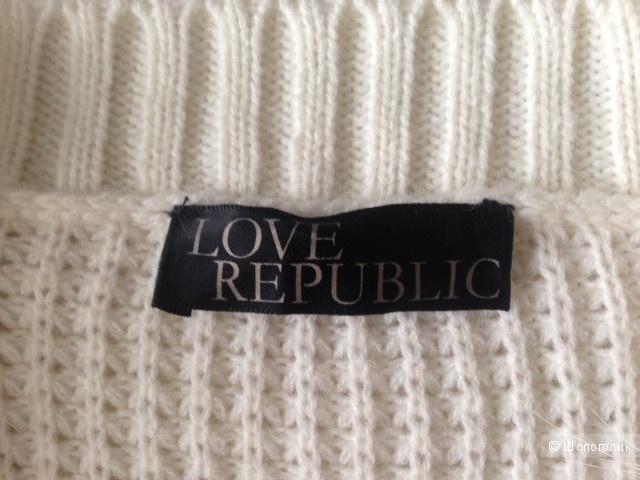 Кардиган с мехом песца LOVE REPUBLIC,44-46
