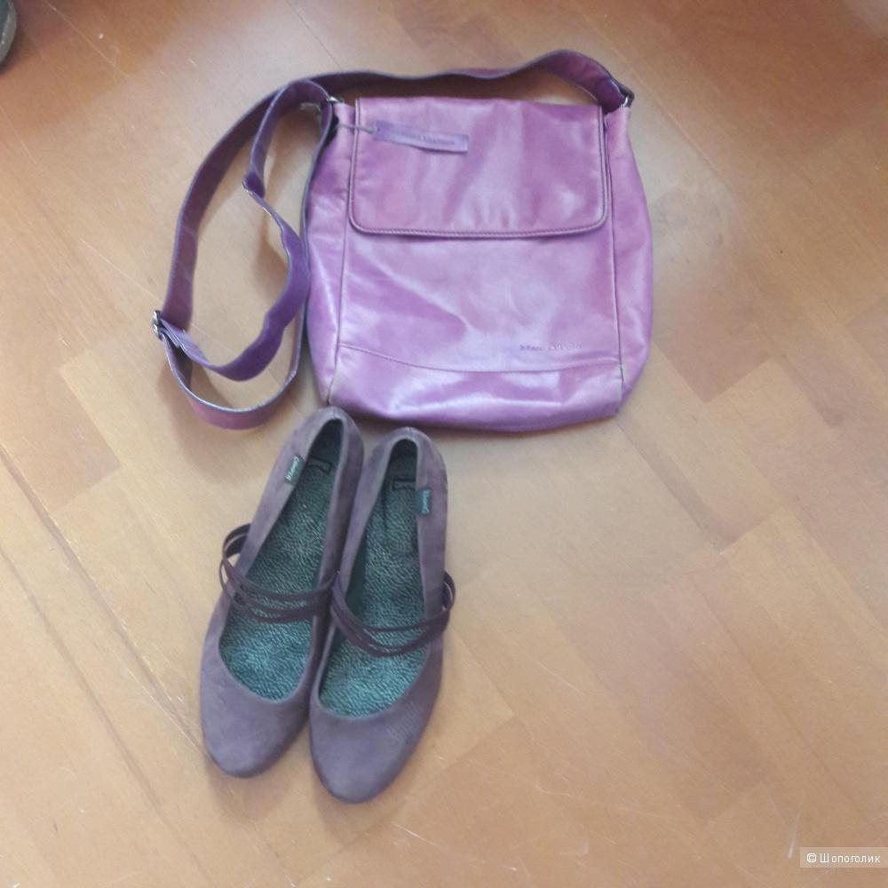 Замшевые туфли Camper 41 размера