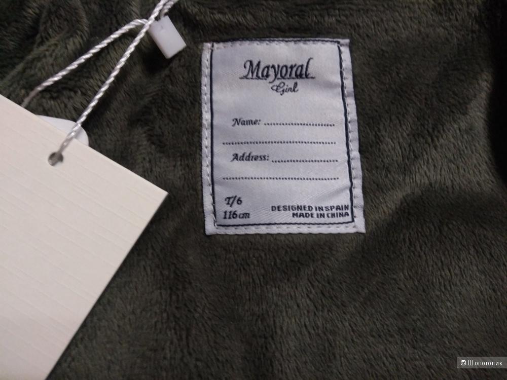 Полупальто для девочки Mayoral размер 110