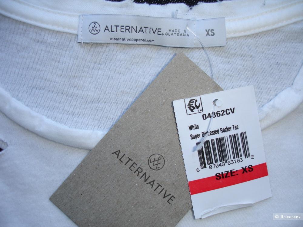 Футболка Alternative Apparel, размер XS (рос 42-46)