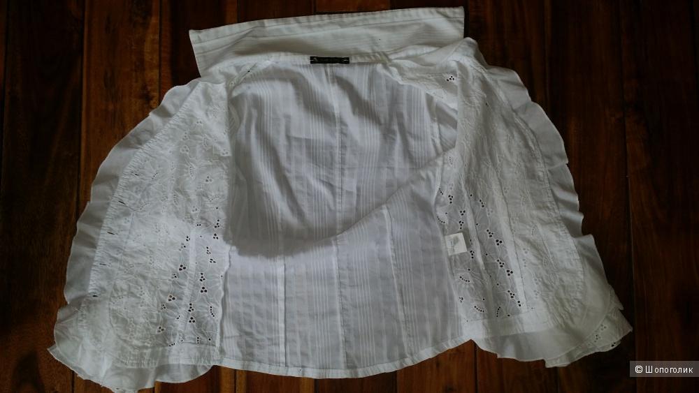 Жакетик-блузка из шитья, 44 размер