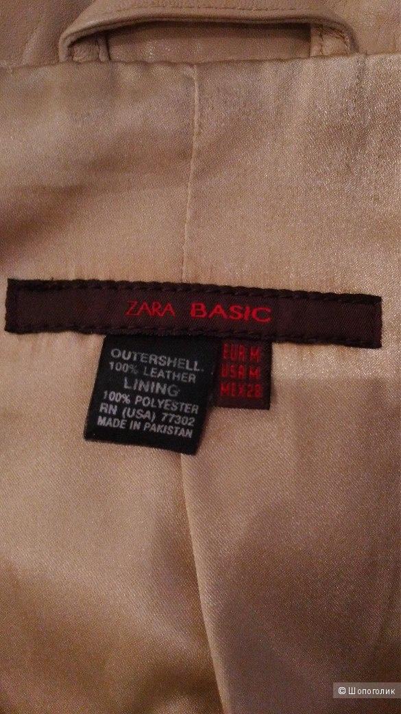 Куртка кожаная Zara р.46