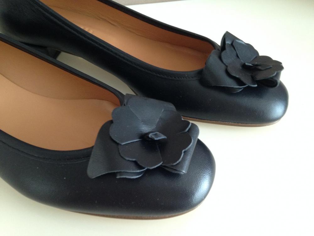 Чёрные туфли-балетки  Cantarelli 39 р.