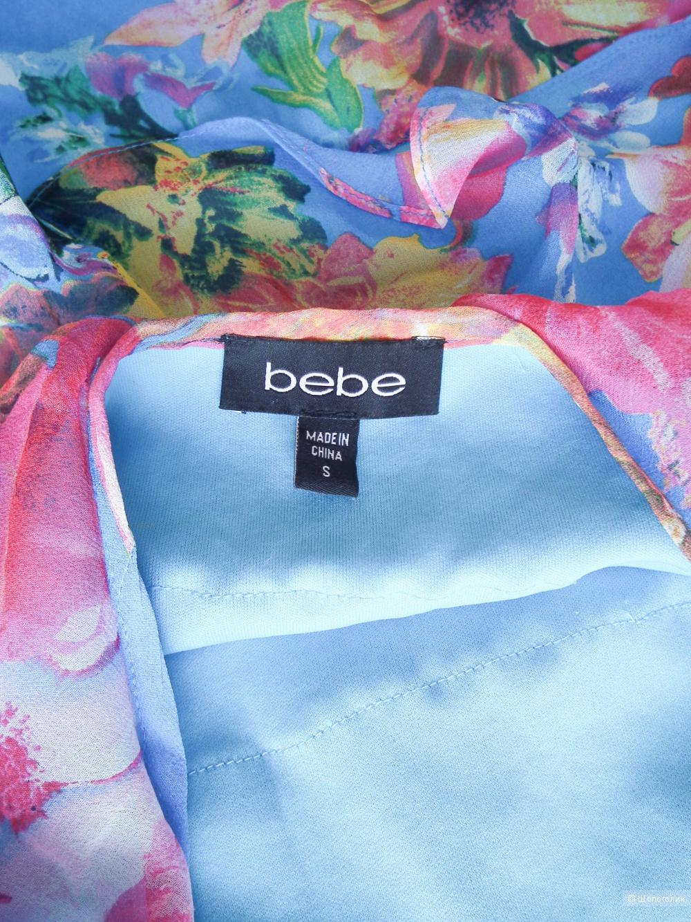 100% шелковое платье Bebe S