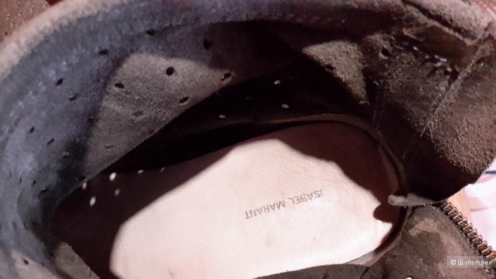 Замшевые кеды-сникерсы Isabel Marant 38 размер