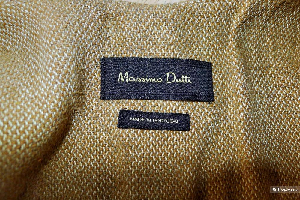 Massimo dutti льняной жилет размер S