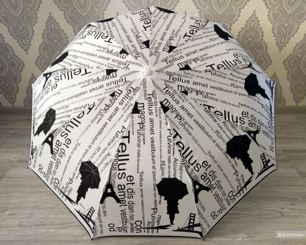 "Amico - зонт женский ""Париж"", d купола - 1 м."