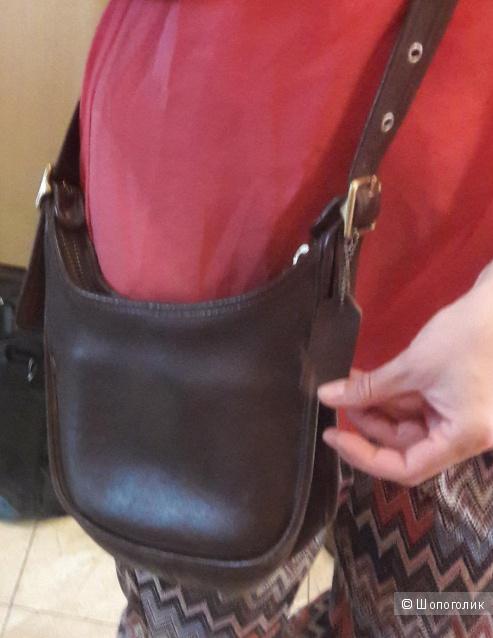 Кожаная сумка crossbody Coach
