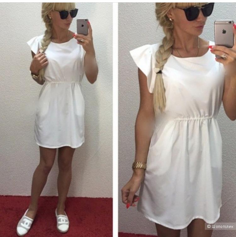 Платье  желтое ZARA, one size