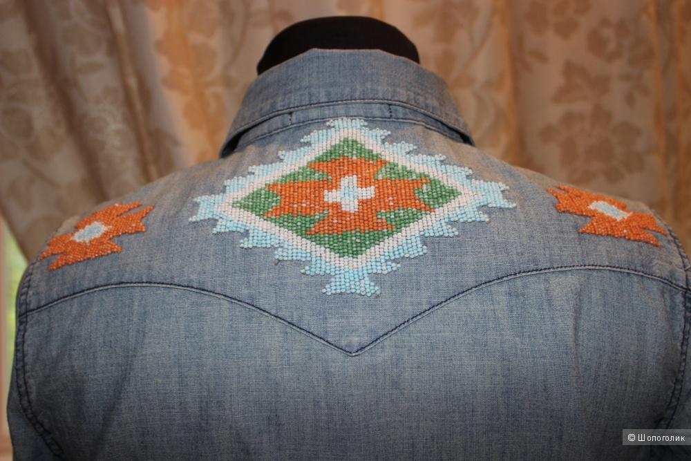 Джинсовая рубашка  denim & supply ralph lauren, размер s