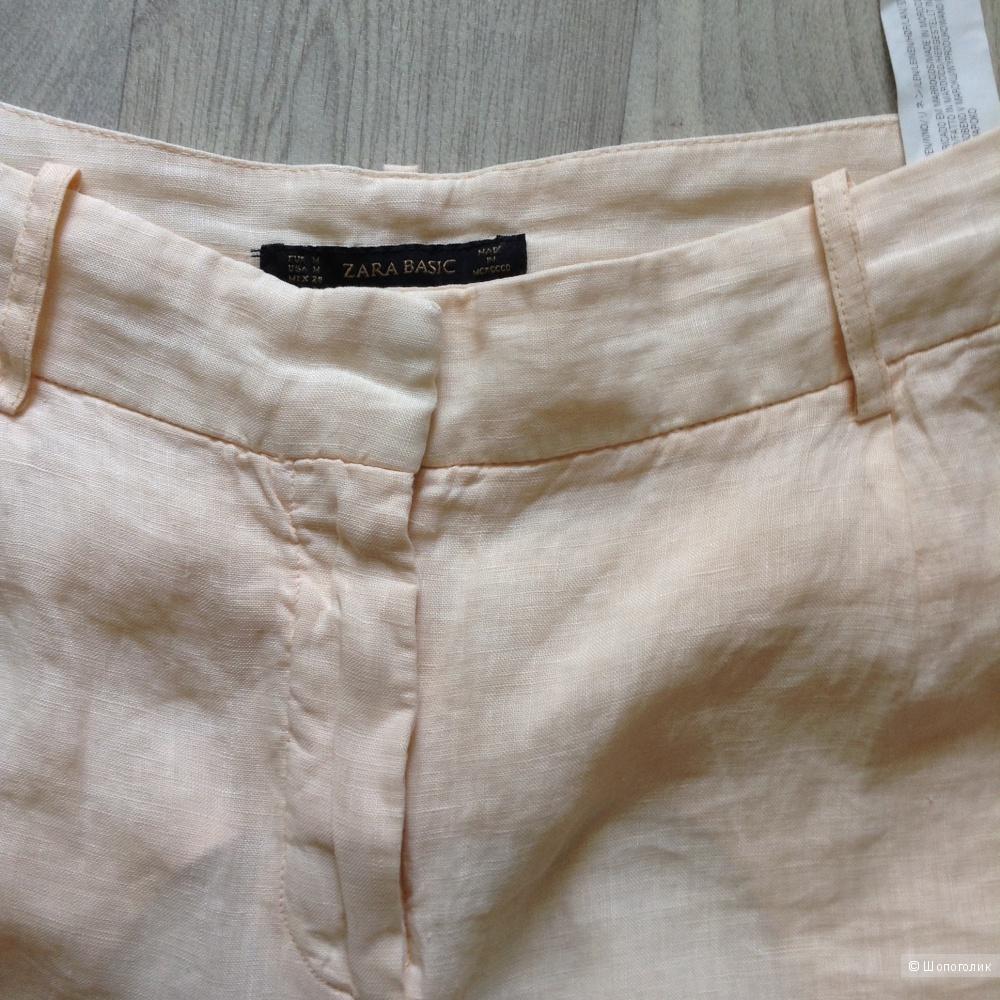 Льняные брюки Zara, размер М