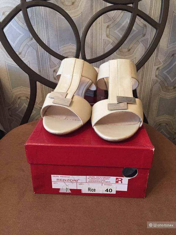 Кожаные босоножки Renzoni, 39 RU/40 EU
