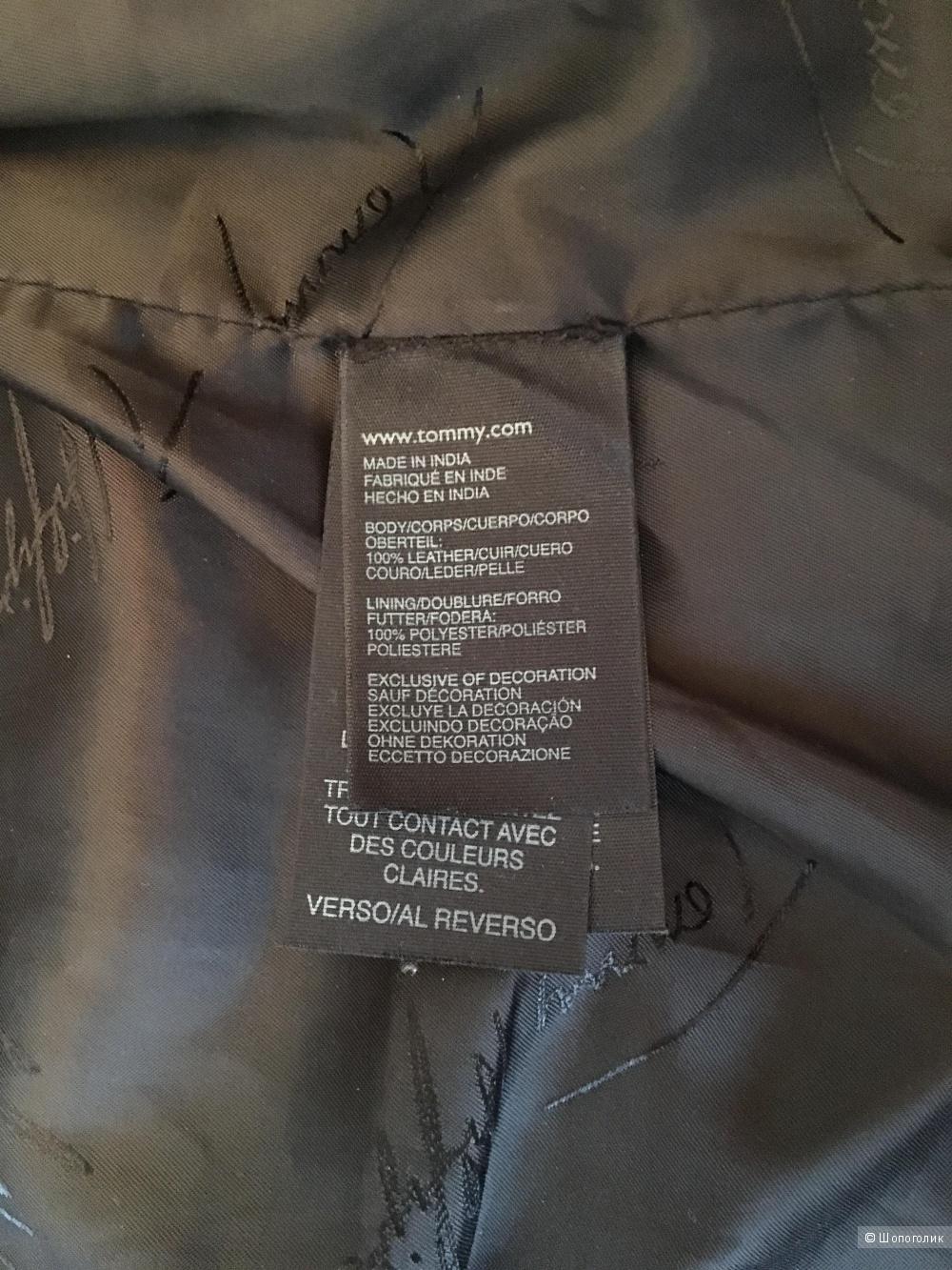 Кожаная куртка Tommy Hilfiger, размер американский 10