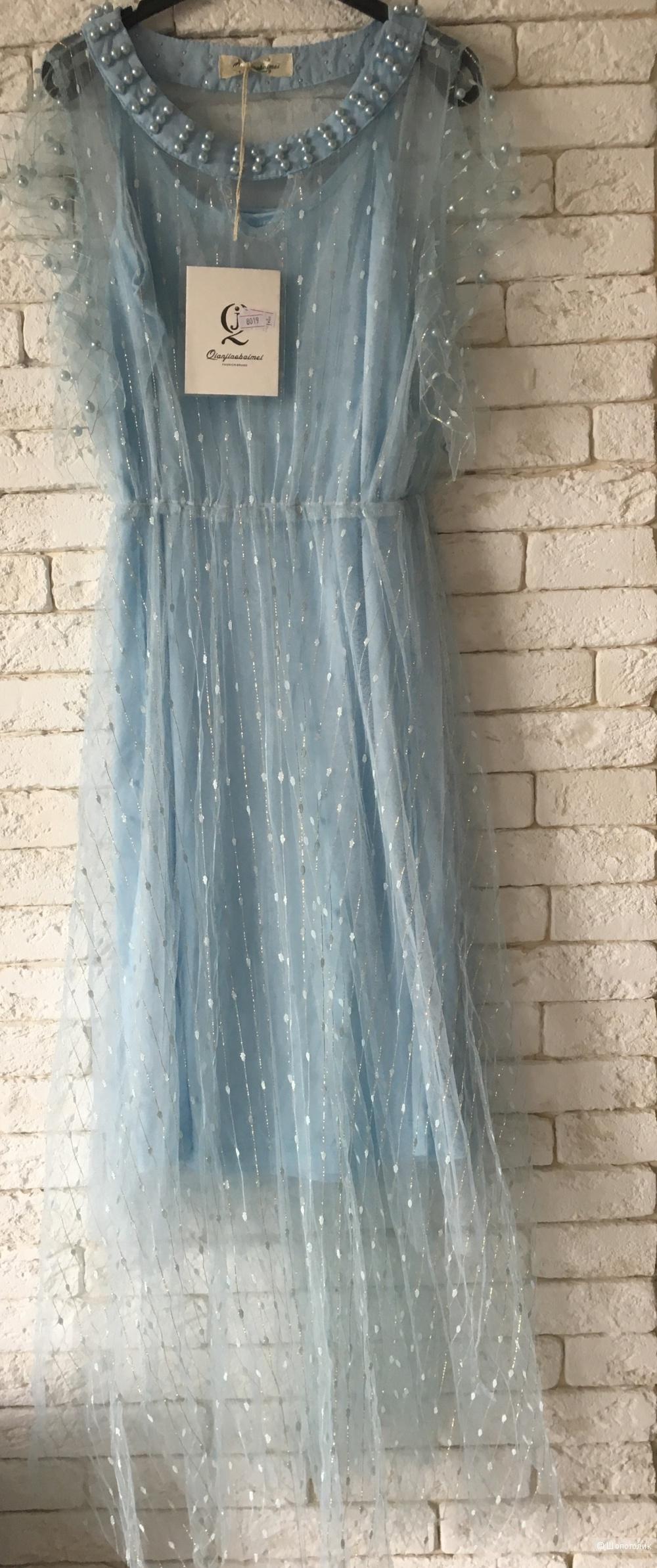 Платье Небесное, one size