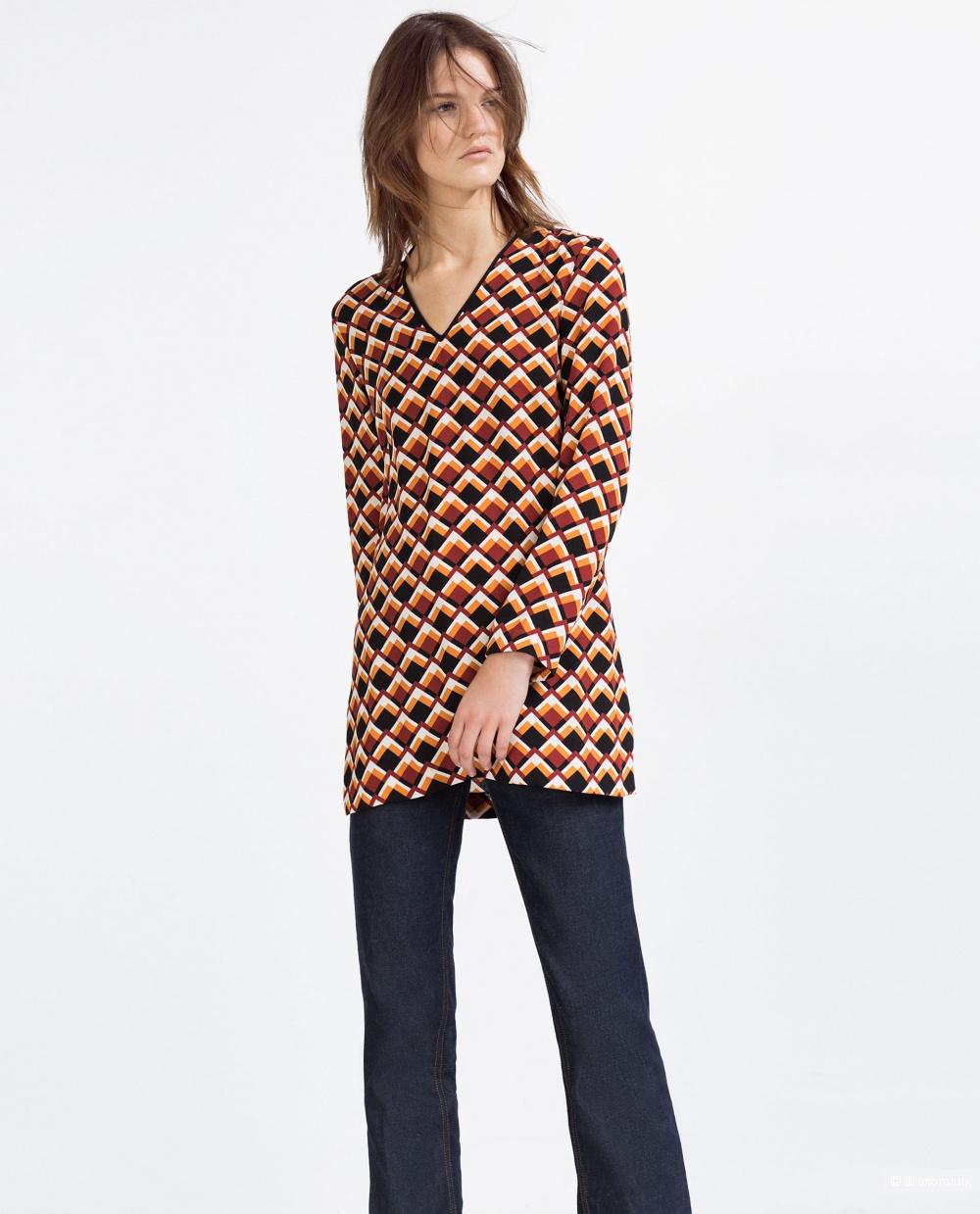 Zara women блузка туника размер S